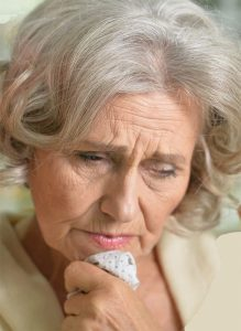 Contemplative Gray Divorce woman